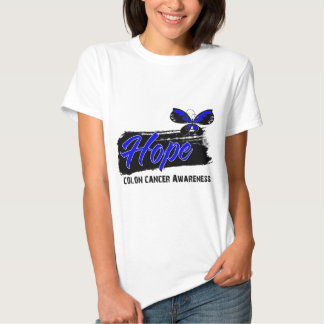 Hope Tattoo Butterfly Colon Cancer T-shirts