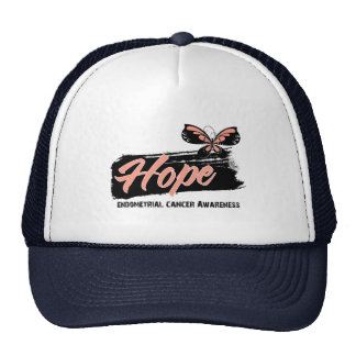 Hope Tattoo Butterfly Endometrial Cancer Mesh Hat