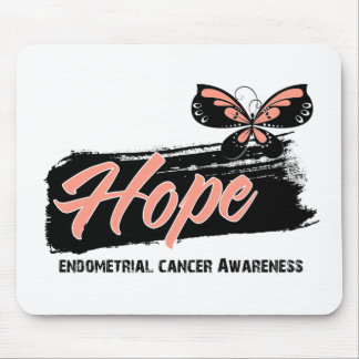 Hope Tattoo Butterfly Endometrial Cancer Mouse Pads