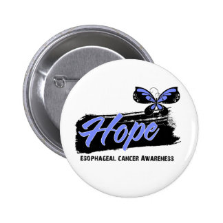 Hope Tattoo Butterfly Esophageal Cancer Button