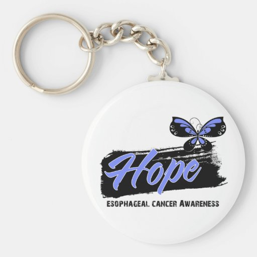 Hope Tattoo Butterfly Esophageal Cancer Key Chains