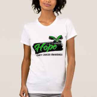 Hope Tattoo Butterfly (Green) Kidney Cancer Tshirt