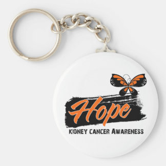 Hope Tattoo Butterfly Kidney Cancer Keychain