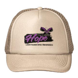 Hope Tattoo Butterfly Leiomyosarcoma Mesh Hats