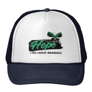 Hope Tattoo Butterfly Liver Cancer Mesh Hats