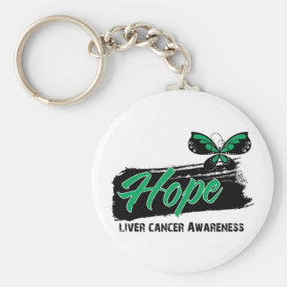 Hope Tattoo Butterfly Liver Cancer Keychain