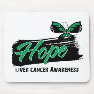 Hope Tattoo Butterfly Liver Cancer Mousepads