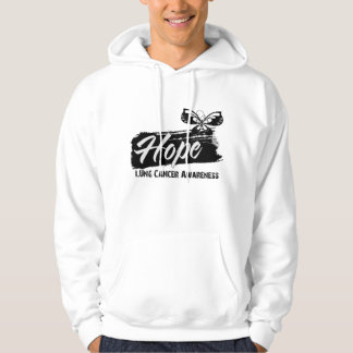Hope Tattoo Butterfly Lung Cancer Hoodie
