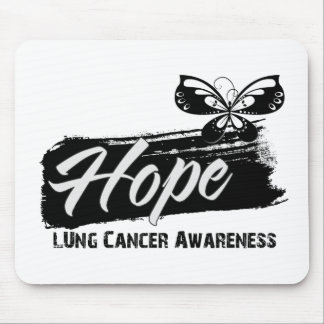 Hope Tattoo Butterfly Lung Cancer Mouse Pads
