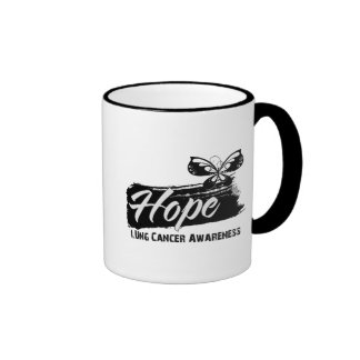 Hope Tattoo Butterfly Lung Cancer Coffee Mugs