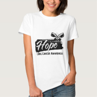 Hope Tattoo Butterfly Lung Cancer Tees