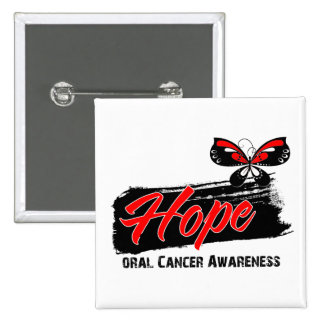 Hope Tattoo Butterfly Oral Cancer Pin