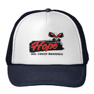Hope Tattoo Butterfly Oral Cancer Cap