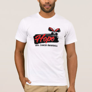 Hope Tattoo Butterfly Oral Cancer T-Shirt