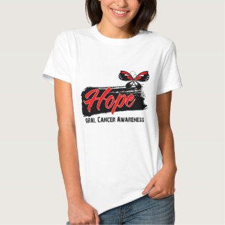 Hope Tattoo Butterfly Oral Cancer T-shirts