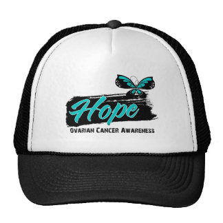 Hope Tattoo Butterfly Ovarian Cancer Hat