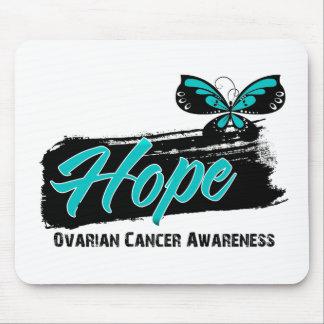 Hope Tattoo Butterfly Ovarian Cancer Mousepads