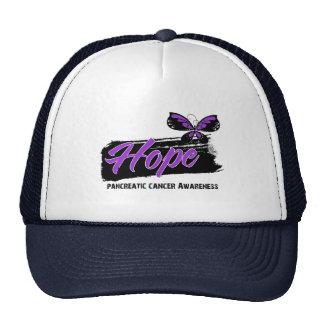 Hope Tattoo Butterfly Pancreatic Cancer Trucker Hats