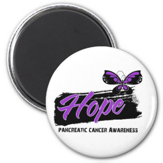 Hope Tattoo Butterfly Pancreatic Cancer 6 Cm Round Magnet
