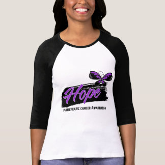 Hope Tattoo Butterfly Pancreatic Cancer Tshirt