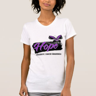 Hope Tattoo Butterfly Pancreatic Cancer Tshirts