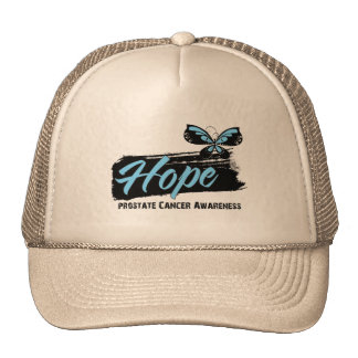 Hope Tattoo Butterfly Prostate Cancer Mesh Hats