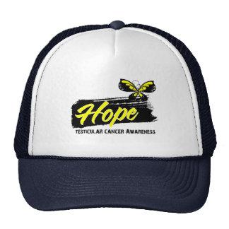 Hope Tattoo Butterfly Testicular Cancer Trucker Hats