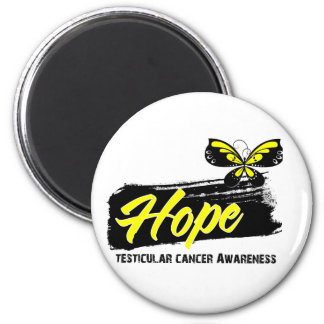 Hope Tattoo Butterfly Testicular Cancer 6 Cm Round Magnet