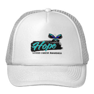 Hope Tattoo Butterfly Thyroid Cancer Hat