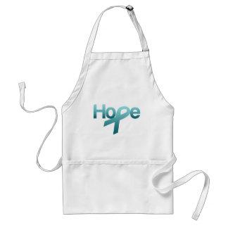 Hope Teal Ribbon Ovarian Cancer Awareness Standard Apron