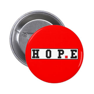 hope text message emotion feeling red dot square 6 cm round badge