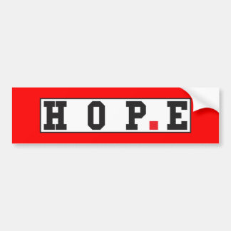 hope text message emotion feeling red dot square bumper sticker
