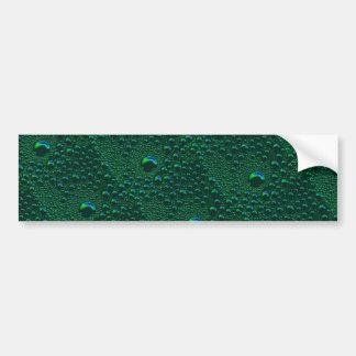 Hope the Green rain drop sample is green Bumper Sticker