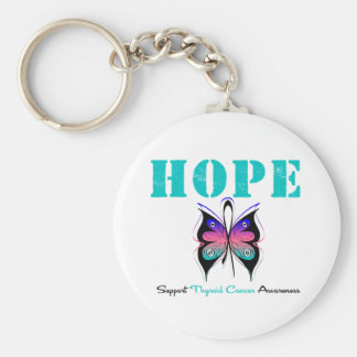 Hope Thyroid Cancer Butterfly Key Chains