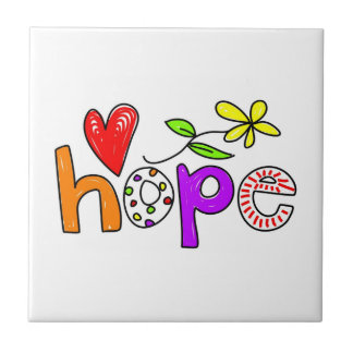 Hope Small Square Tile