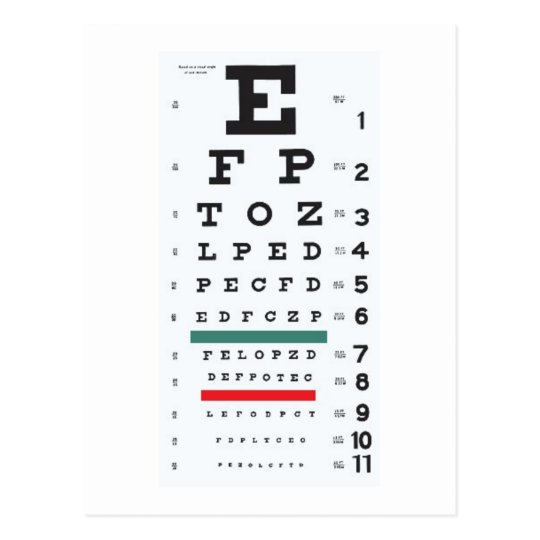 Hope to see you soon : Eye Chart