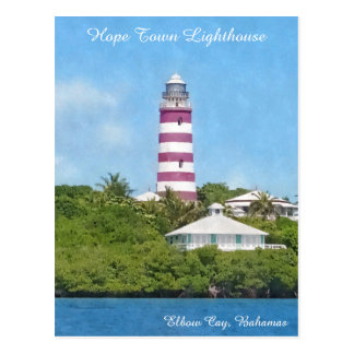 Hope Town Lighthouse Elbow Cay, Bahamas Postcard