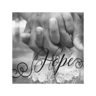 HOPE Typography Photo Overlay Canvas Print