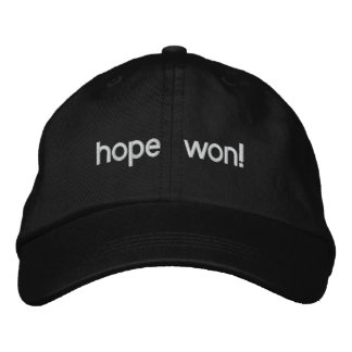 hope won! embroidered hat