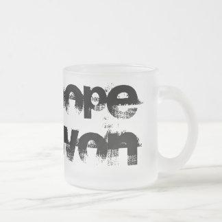 Hope Won Frosted Glass Mug