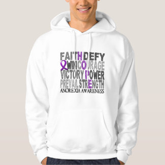 Hope Word Collage Anorexia Hoodie