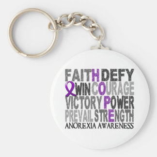 Hope Word Collage Anorexia Key Ring