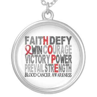Hope Word Collage Blood Cancer Custom Jewelry