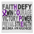 Hope Word Collage Bulimia Poster