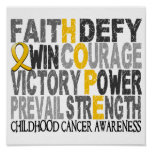 Hope Word Collage Childhood Cancer