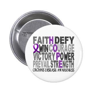 Hope Word Collage Crohn's Disease Pin