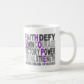 Hope Word Collage Crohn's Disease Basic White Mug