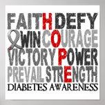 Hope Word Collage Diabetes Print