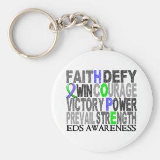 Hope Word Collage EDS Basic Round Button Key Ring