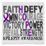 Hope Word Collage Epilepsy Poster